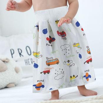 Nowo wygodne spodenki na pieluchy dla dzieci 2 w 1 wodoodporny Super chłonny szczelny zmywalny pielucha dla niemowląt spódnica spodnie tanie i dobre opinie Pasuje prawda na wymiar weź swój normalny rozmiar Trouser skirt COTTON Suknem Elastyczny pas