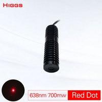 Barato Gran potencia 638nm 700mw rojo punto módulo láser diámetro 20mm DC 5V grado Industrial láser largo