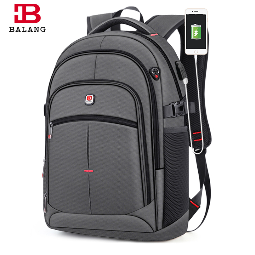 BALANG New Anti thief USB Backpack 15.6inch Laptop Backpack for Women Men School Backpacks Bag for Boy Girls Male Travel Mochila-in Backpacks from Luggage & Bags    1