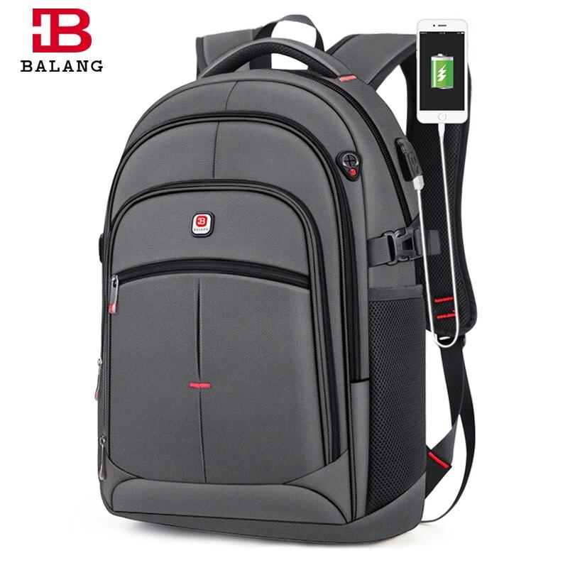 BALANG nowy Anti theft USB plecak 15.6 cal plecak na laptopa dla kobiet mężczyźni plecaki szkolne torba dla chłopców dziewcząt mężczyzna podróży Mochila w Plecaki od Bagaże i torby na  Grupa 1