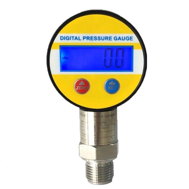 0-60Mpa manomètres affichage numérique pression d'huile jauge hydraulique testeur de pression 3V pour gaz eau huile 1/4G filetage