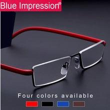 Мужские очки для чтения bi мужские Полуободковые tr90 металлические