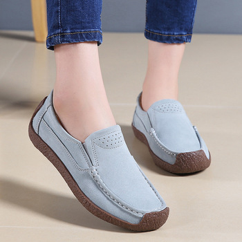 Spring Autumn new Women Moccasins Women's Flats Genuine leather Shoes Woman Lady Loafers Slip On Suede Shoes mocasines mujer