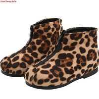 Di marca Per Bambini scarpe leopardo con scarpe per bambini in cotone Caldo scarpe stivali alla caviglia delle scarpe da ginnastica per la ragazza scarpe stivali da neve