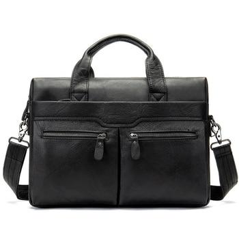 Vintage Large Capacity Men briefcase Business Messenger Handbags Men Bags   Laptop Handbag Bag Men's Travel Bags High Quality