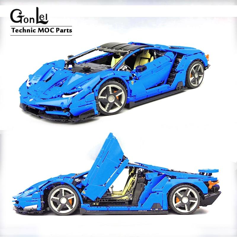Technic MOC Serries Lamborghini Centenario 1:8 Hypercar Sports Car Daniel MOC-39933 Building Block Bricks Model DIY Toys Gifts