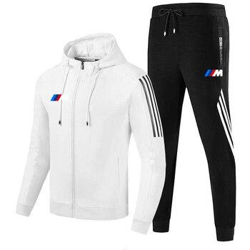 New  M men's fall/winter suit zipper hoodie + pants two pieces of casual sportswear men's sportswear gym brand clothing sport 5