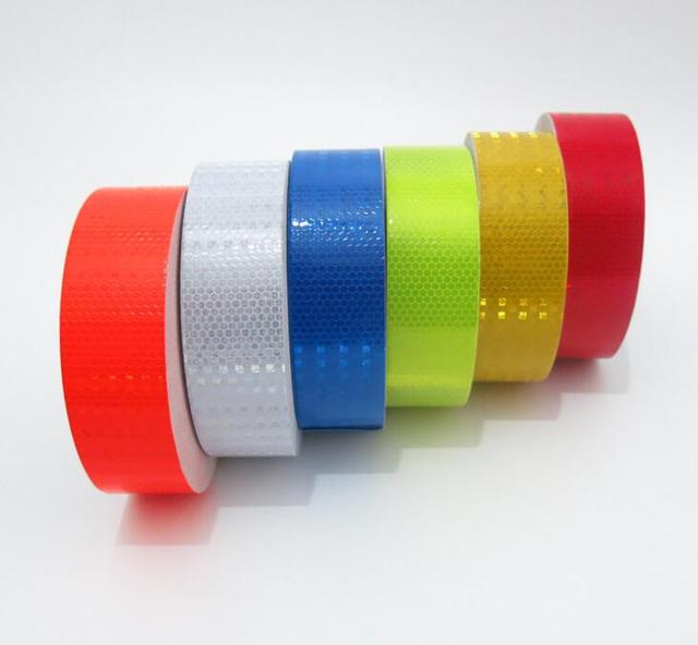 5cmx3m Reflective Material Tape Sticker Safety Warning Tape Reflective Film Car Stickers 2