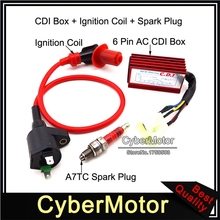 Racing Ignition XR100 A7TC CRF50 Coil Motor-Bike Spark-Plug CRF100 Ac Cdi Red for XR50