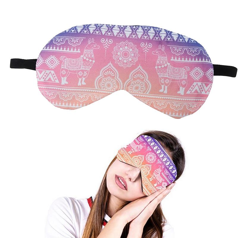 1PC Soft Sleeping Mask Eye patch Soft Eye Sleep Mask Cartoon Travel Relaxing Sleeping Aid Blindfold