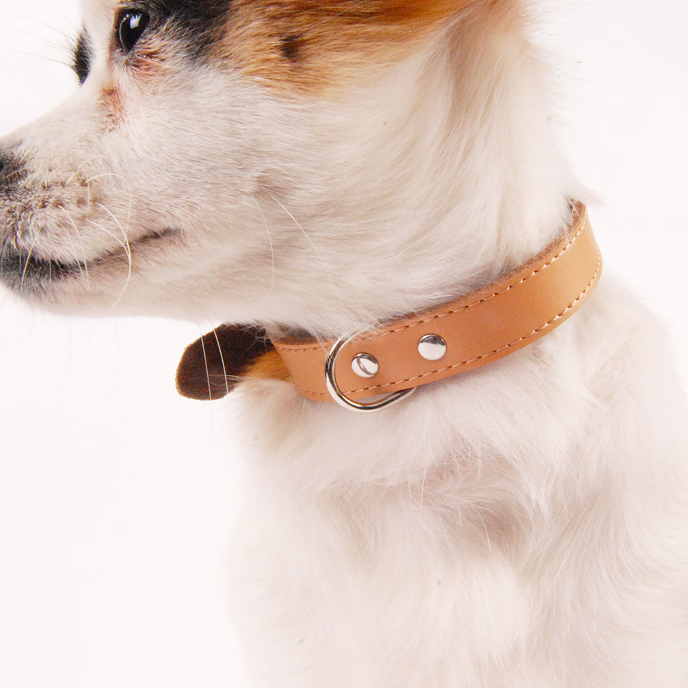 Genuine Leather Pet Collar Jin And Second Layer Cattle Pi Gou Lian Medium-small Large Dog Pet Supplies Cat Scarf Neck Ring