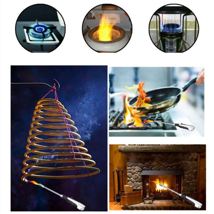 Зажигалка Факел струйные зажигалки 360 градусов Регулируемая зажигалки для кухни барбекю камин JS22