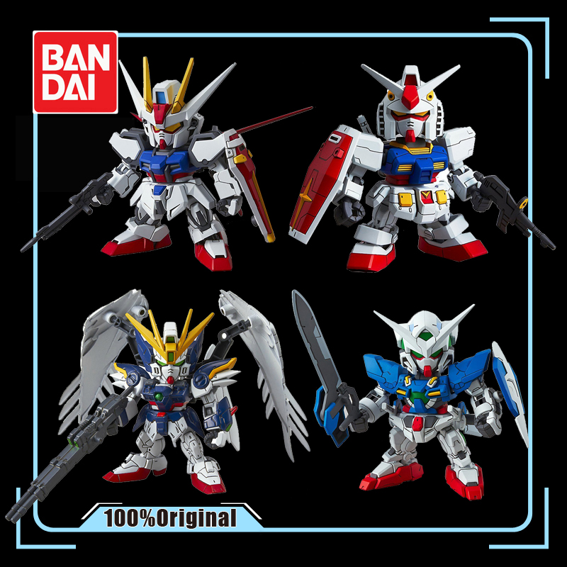 BANDAI <font><b>BB</b></font> SD EX Q Version <font><b>GUNDAM</b></font> Collection Effects <font><b>Gundam</b></font> Action Figure Ornaments Kids Toy image