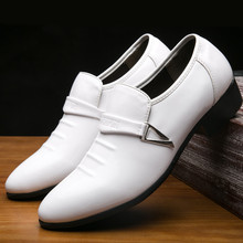 2019 MenS Shoes Fashion Business Dress New Classic Leather Suits Slip Yasilaiya Solid