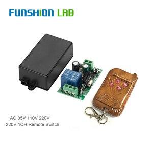 FUNSHION AC 110 В 220 В 1CH RF 433 МГц беспроводной пульт дистанционного управления Переключатель обучения код 1CH RF релейная лампа контроллер света 433,92 М...