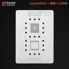 Трафарет BGA для Samsung Exynos 9610, реболлинг процессора, посадка, Оловянная сетка, ремонт трафарета BGA