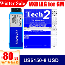 VXDIAG VCX for GM Diagnostic Tool for Saab/OPEL/GDS2/Tech2win OBD2 Scanner Action Test ECU Flasher Key Programmer same TECH2/MDI