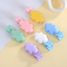 Colorful Cloud Hairpins Lovely Clips Barrettes Headband Resin Material hair clip Kawaii girls Hair Accessories