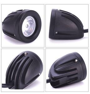 Image 5 - QIPO 1Pair 10w Motorcycle Led Headlight Work Light Offroad SUV Lights Spot/flood 12v 4x4 ATV Auxiliary Motor Fog Driving Lamp