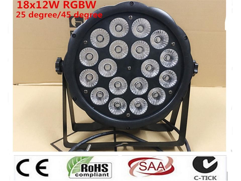 18X12 W RGBW 4in1 16 Bit Dimming LED Lattine Par Luce Della Fase Della Discoteca Del DJ Di Illuminazione DMX512 4/8CH