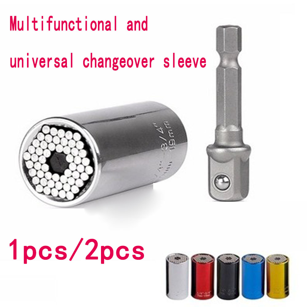 Color Universal Sleeve 7-19mm Universal Ratchet Sleeve Magic Conversion Sleeve Multi-function Electric Drill Conversion Head