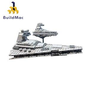 BuildMoc Звездные войны, мини имперский Звездный разрушитель, строительные блоки, войны, Герой, класс, Звездные Дредноуты, корабль, Звездные вой...