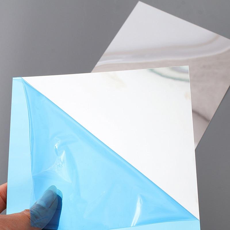 Spliced-Stickers Mirror-Sheets Self-Adhesive Living-Room-Decor Wall Bathroom Home Square