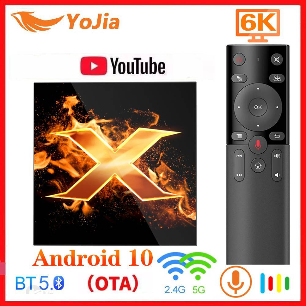 X1 Andriod 10 0 TV Box Android 10 OTA BT5 0 6K Media Player Google Voice Assistant 5G Dual wifi Youtube VS H96 MAX TX6S TVBOX