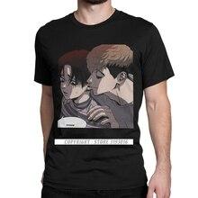 Funny Anime T Shirts Killing Stalking Yoonbum Sangwoo T Shirts Yoonbum Kogi Yaoi Shonen Manga Japan Tee Shirt Camisas Men