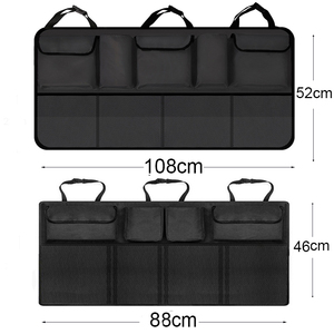 Image 5 - Saco de armazenamento de carro organizador mala do carro universal grande capacidade banco traseiro saco de armazenamento tronco carga malha titular bolso