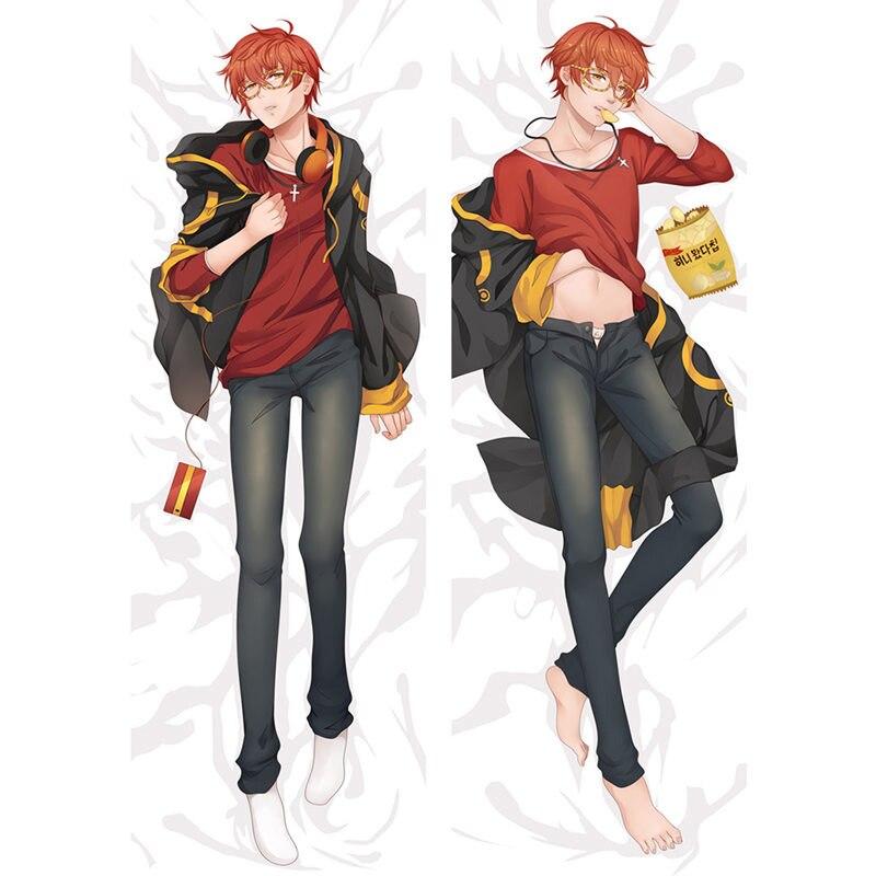 Anime Mystic Messenger cosplay pillow Cover Decorative Dakimakura case cool boys Bedding Hugging Body pillowcase drop