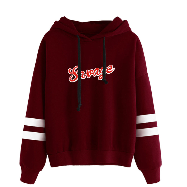 21 SAVAGE THEMED STRIPED HOODIE (20 VARIAN)