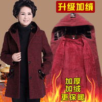 New Plus Size 5XL Women Coat Winter Faux Fur Warm Outwear Middle aged Fashion Casual Hooded Coat Plush Thick Wool Coats