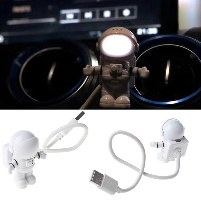 Creative Spaceman Astronaut LED Flexible USB Light Night Light for Kids Toy Laptop PC Notebook 4