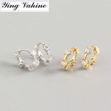 ying Vahine 100% 925 Sterling Silver Geometric Zircon Stud E