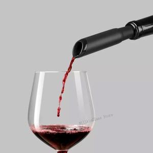 Image 3 - Huohou Automatico Rosso Bottiglia di Vino Opener Cap Fermacorda E Ganci Veloce Decanter Cavatappi Elettrico Foil Cutter Out Strumento