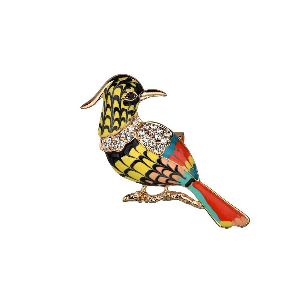 2019 Nieuwe Toekan Broches Kleurrijke Enamel Rhinestone Crystal Voor Vrouwen Trend Pelican Vogel Broche Pins Sieraden Accessoire