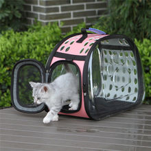 Pet Outdoor Handbag Carrier Foldable Soft Puppy Dog Cat Travel Bag Clear Portable