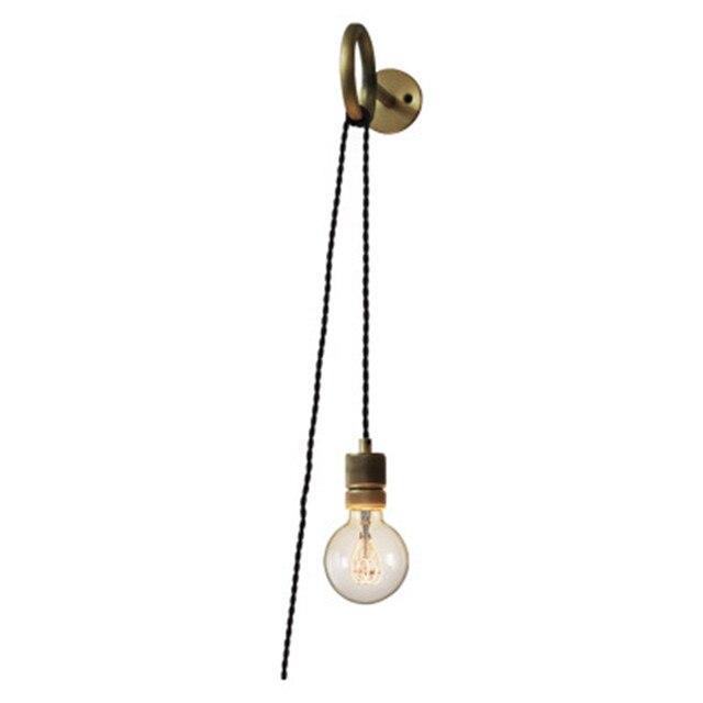Pays américain rétro punk carat applique ronde créative industrielle en fer forgé chambre Edison e27 applique