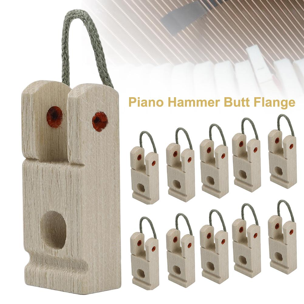 10PCS Piano Hammer Butt Flange With Rope Piano Accessories Wooden Piano Hammer Butt Plates/Flanges