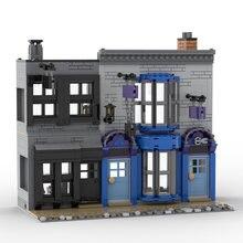 Jouets MOC de Construction magique, 925 pièces, ville, rue, scène de chaudron, magasin, allée diagonale, blocs de Construction modulaires, modèle