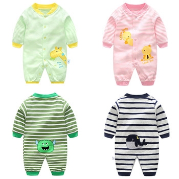 Spring Autumn Baby Boys Cotton Clothes Infant Newborn Baby Boy Girls Rompers Toddler Jumpsuit Playsuit Kids Outfit 3pcs lot 2017 spring baby rompers newborn baby boys girls clothes infant girls boys jumpsuit little kids cotton soft overall