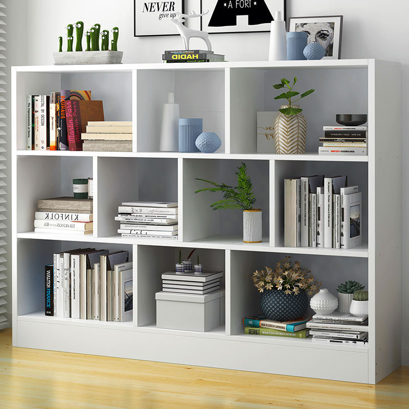 Wholesale Bookshelf Floor Storage Shelf Modern Minimalist Students Household Library Living Room Combination Simplicity Bookcase