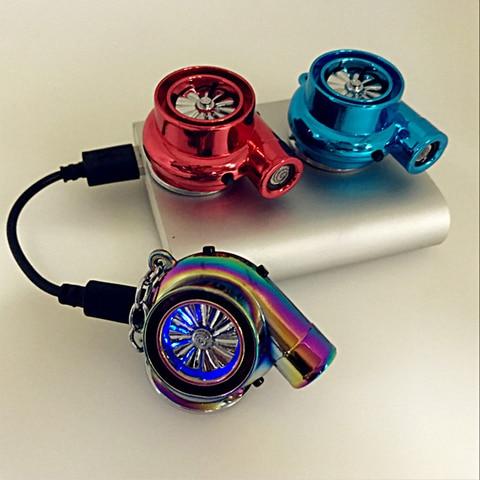 Hellaflush style Turbo keychain USB charging cigarette lighter Car turbine key ring JDM decorative auto accessories Karachi
