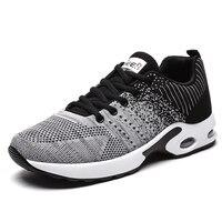 Couple Mesh Sneakers Femme Air Cushion Shoes Men Outdoor Men and Women Shoes Footwear Large Size 48 Breathable Zapatillas Hombre