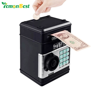 Electronic Piggy Bank ATM Password Money Box Cash Coins Saving Box ATM Bank Safe Box Automatic Deposit Banknote Christmas Gift(China)