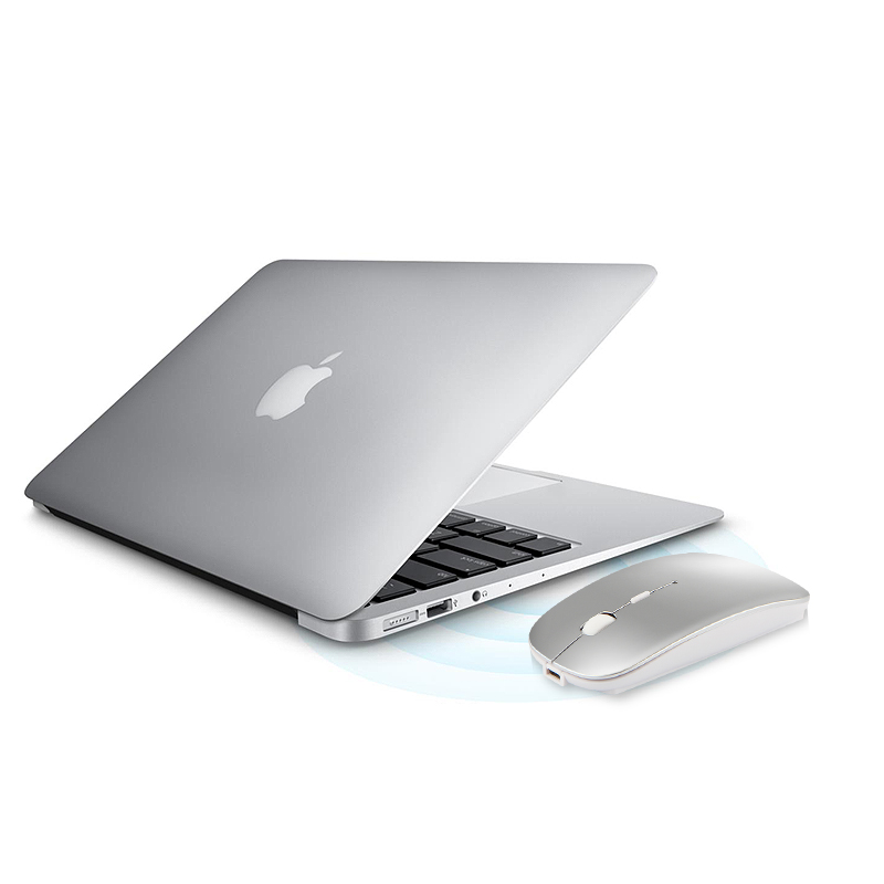 """Rato sem fio bluetooth para macbook ar macbook pro 13 """"16"""" imac computador portátil recarregável mini mouse silencioso"""