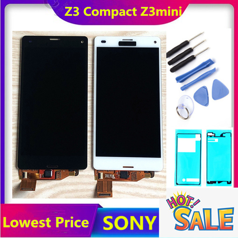 Original LCD For Sony Xperia Z3 Compact LCD Display Z3 Mini LCD D5803 D5833 Touch Screen Digitizer Assembly Free Shipping