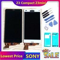 Orijinal LCD Sony Xperia Z3 kompakt LCD ekran Z3 mini LCD D5803 D5833 dokunmatik ekranlı sayısallaştırıcı grup ücretsiz kargo