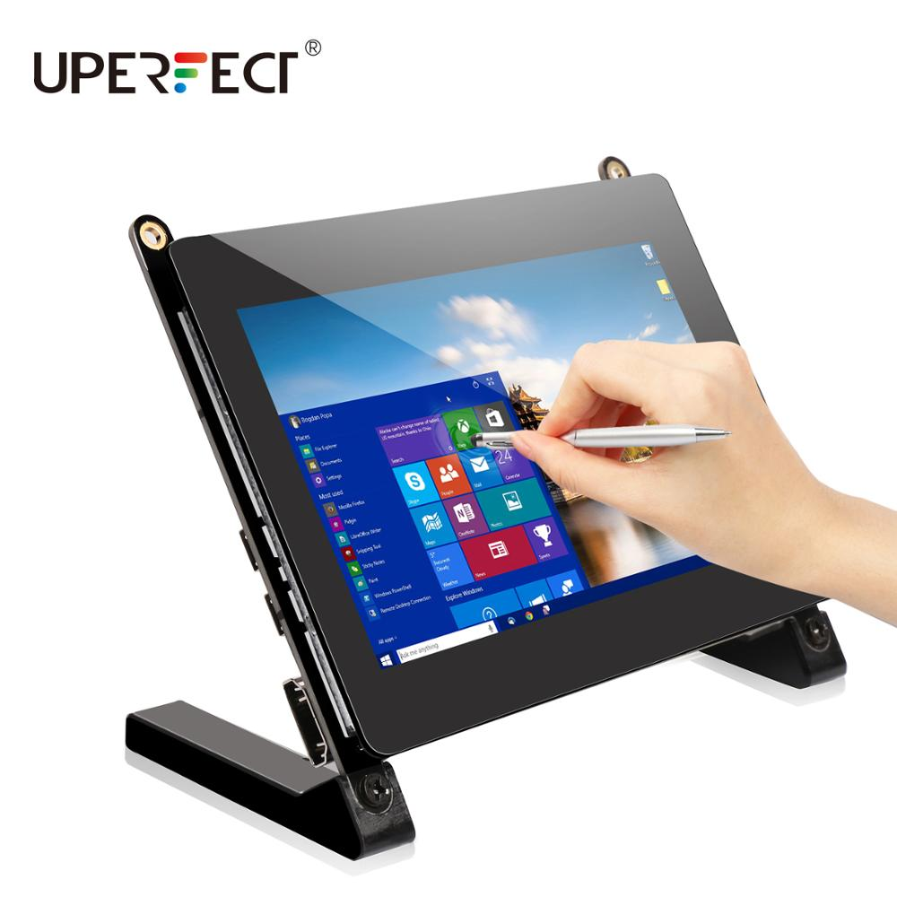 UPERFECT Portable Monitor <font><b>5</b></font> <font><b>Inch</b></font> Touch Screen IPS <font><b>Display</b></font> 800*480 16:9 Built-in Dual Speakers Compatible USB HDMI <font><b>Raspberry</b></font> <font><b>Pi</b></font> image